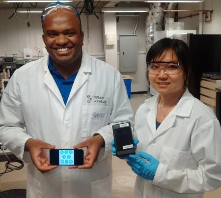 Researchers with Allergen Detector