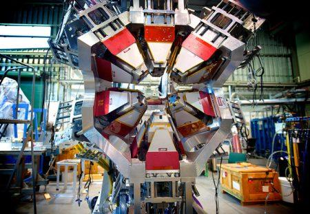 Part of the TIGRESS gamma-ray spectrometer at the TRIUMF facility in Vancouver –photo by S. Rushton