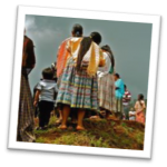 picture of rural Guatemalan women in traditional clothing