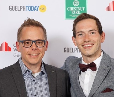 Nic Durish (right) with his advisor, Dr. Gillis (left) at the recent Guelph Chamber of Commerce Awards of Excellence Gala