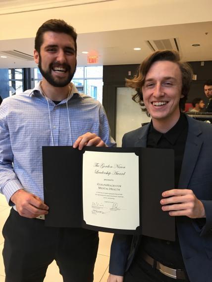 Jonathon MacPherson and Patrick Houlding, awarded the Gordon Nixon Leadership Award at the UofG Student Life Awards banquet