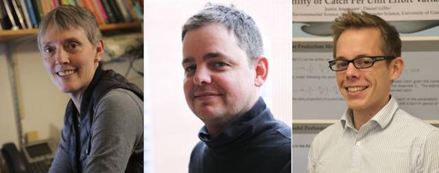 Professors Judi McCuaig, Michael Wirth, and Dan Gillis