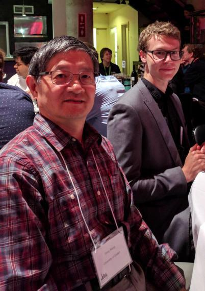 Dr. Yang Xiang and Dylan Loker at the 31st Canadian Conference on Artificial Intelligence