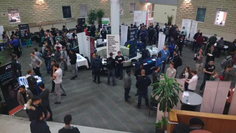B.Comp students at the Guelph Tech Showcase