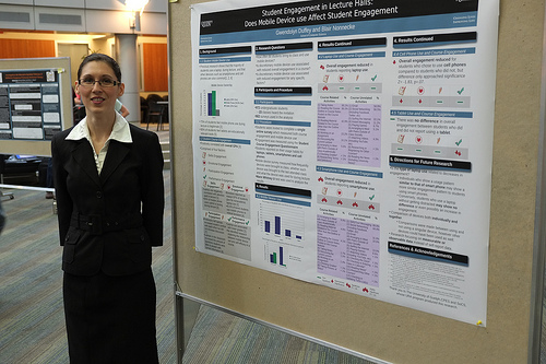 Gwedolyn Duffy at the CPES Undergraduate Poster Session