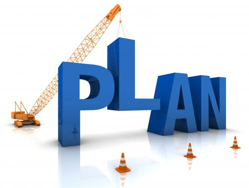 "Word ""plan"" under construction"