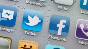 Screen grab of various social media app icons - including Twitter and Facebook