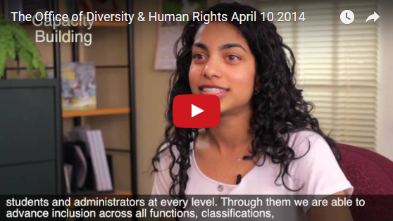 Welcome to the Office of Diversity and Human Rights! Video on YouTube