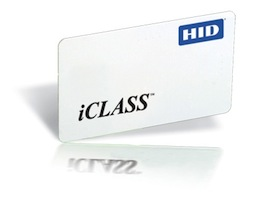 iClass card sample image - blank white card.