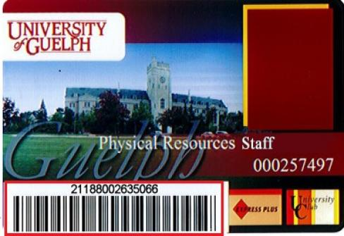University of Guelph ID Card Front