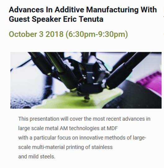 Advances in Additive Manufacturing Event