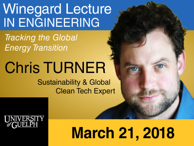 Chris Turner, Winegard Lecturer, 2018