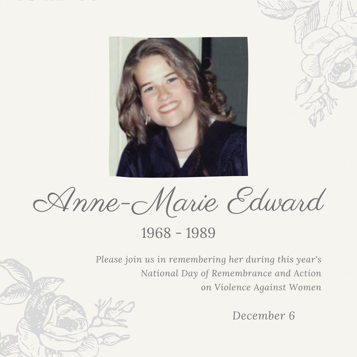 Anne-Marie Edward. 1968 to 1989.