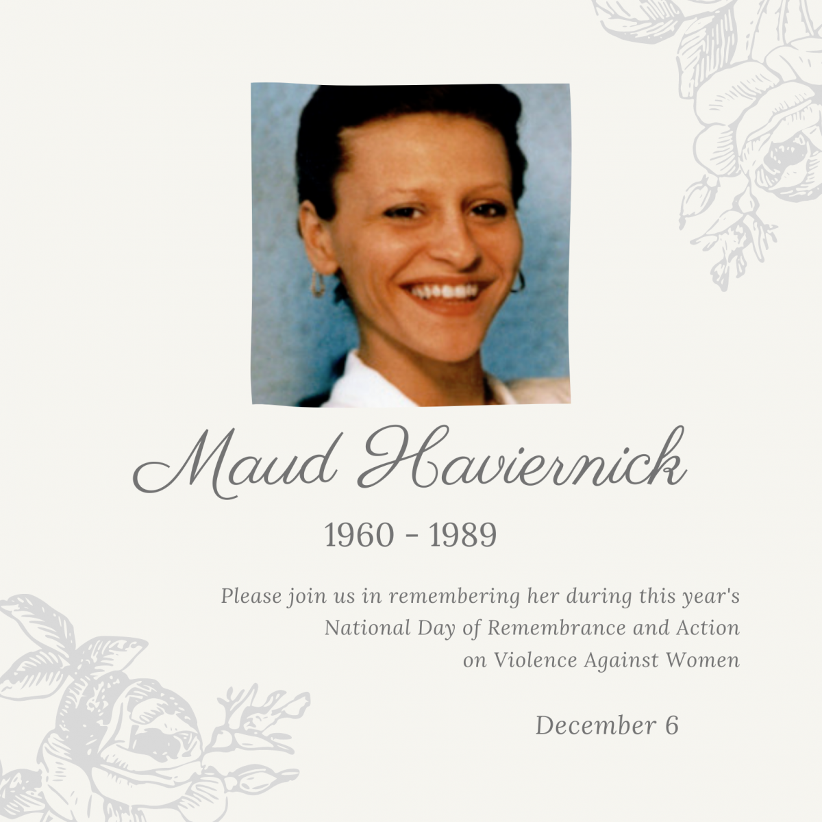 Maud Haviernick. 1960 to 1989.