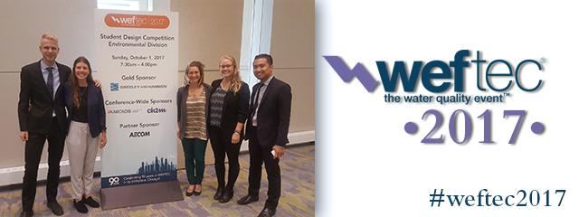 U of Guelph Wins for Stormwater Design Competition at WEFTEC 2017