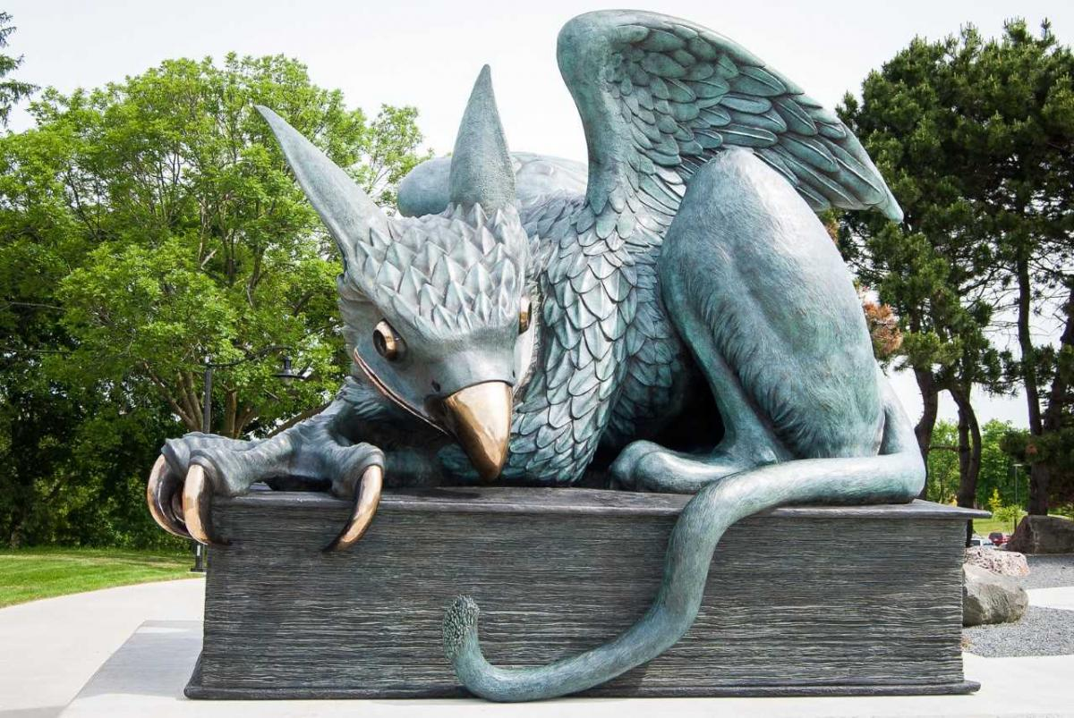 Gryphon Statue at the University of Guelph