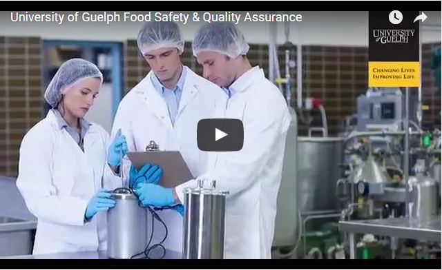 Watch University of Guelph Food Safety & Quality Assurance Video on YouTube