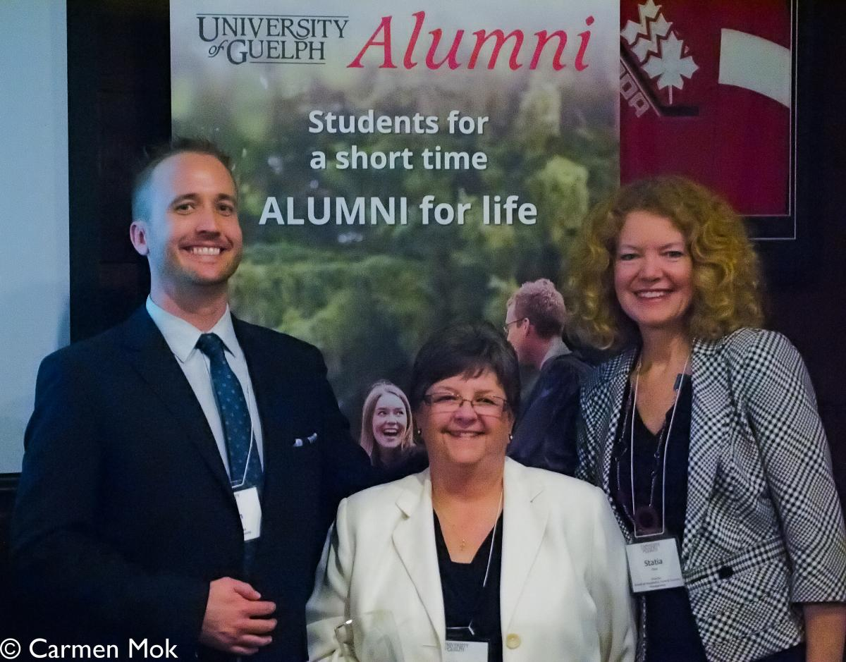 Photo of three HAFA/HFTM alumni board members