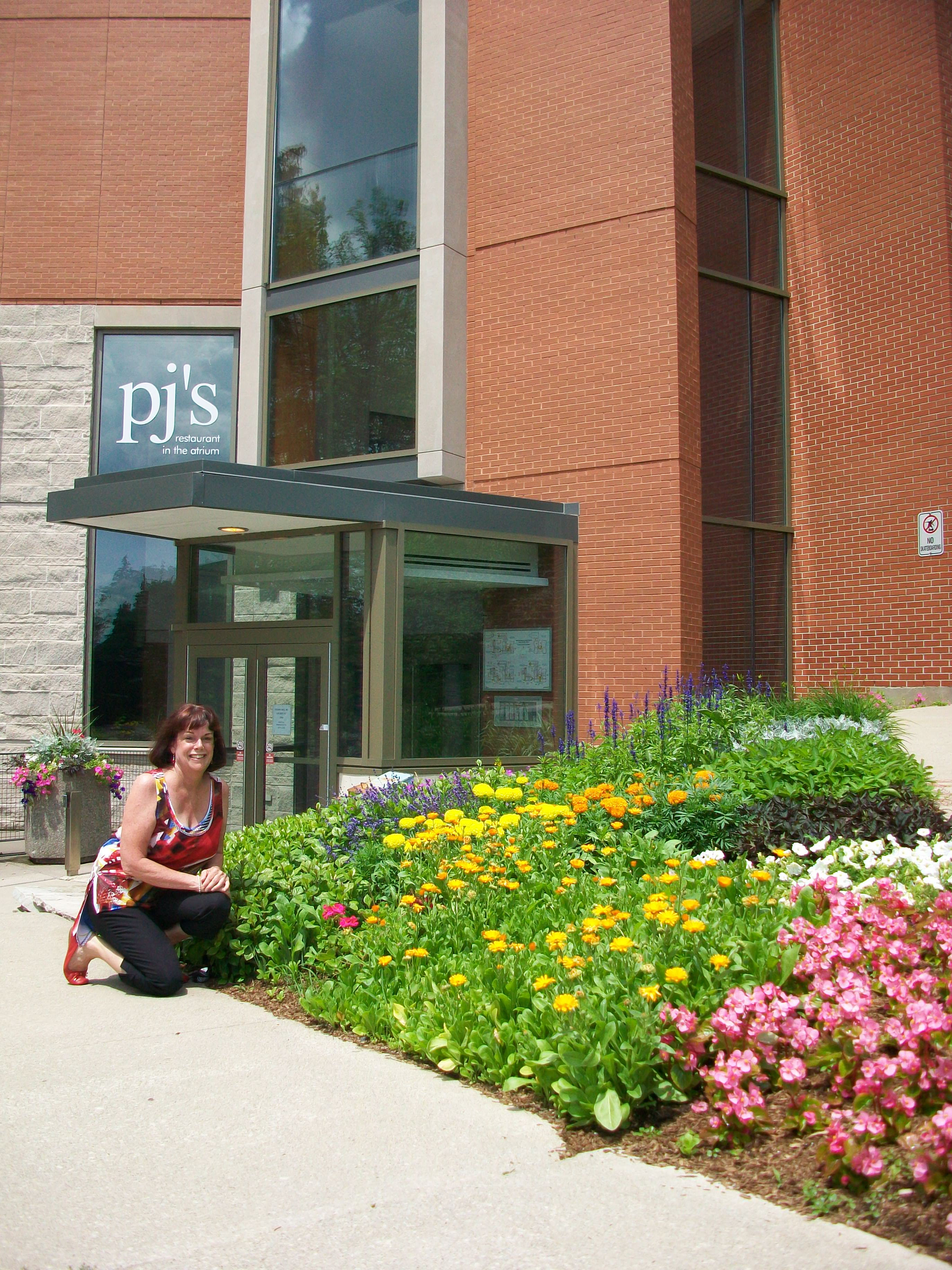 Photo of Valerie Allen outside of Macdonald Stewart Hall
