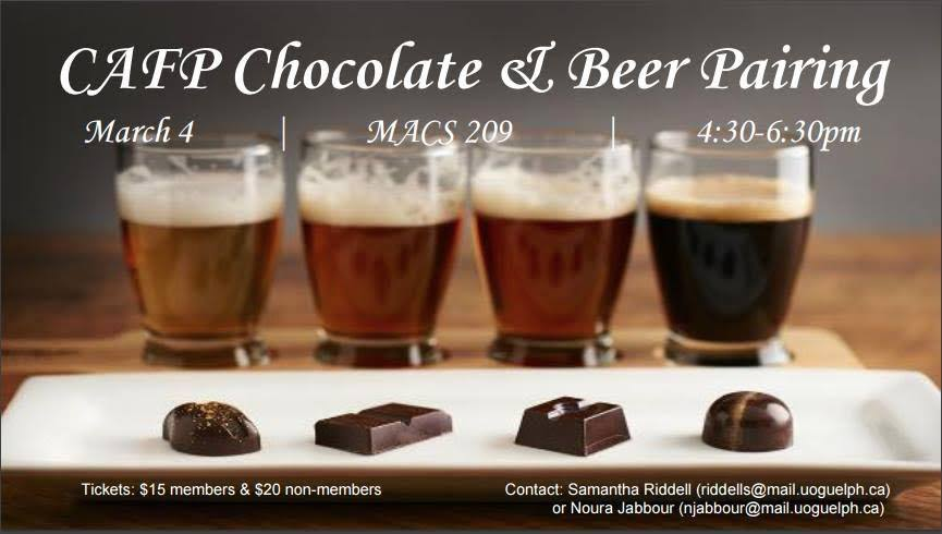 Chocolate & Beer Pairing Poster