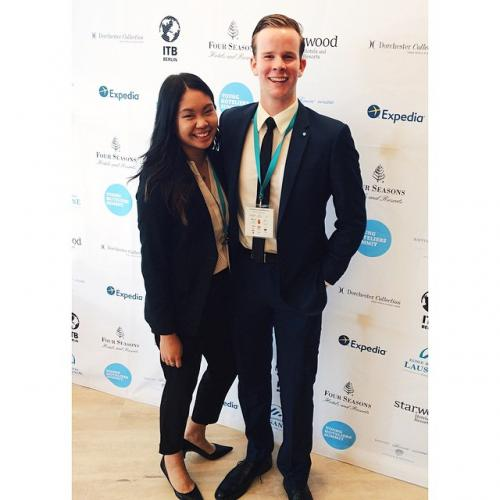 Photo of Brittany Ho and Aaron Laurie