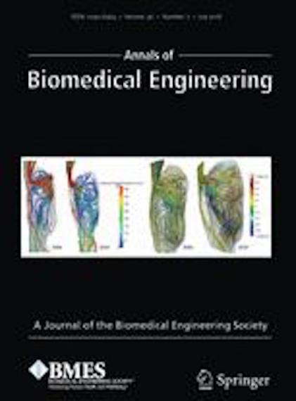 An image of the cover of the Annals of Biomedical Engineering