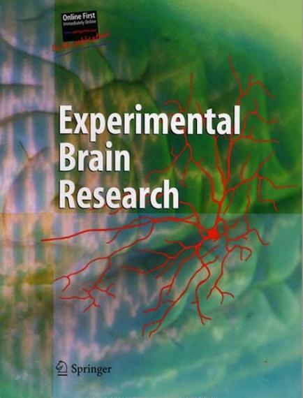 An Image of the cover of The Journal Experimental Brain Research