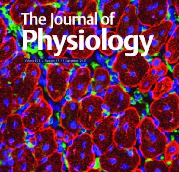 The cover of the journal of Physiology