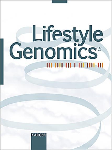 An image of the cover of the journal  Lifestyle Genomics
