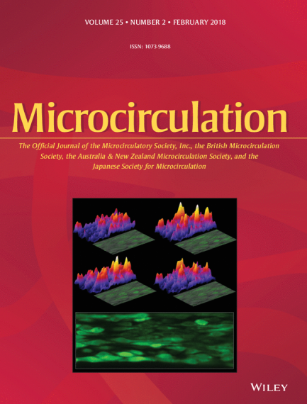 An image of the February 2018 cover of the Journal Microcirculation