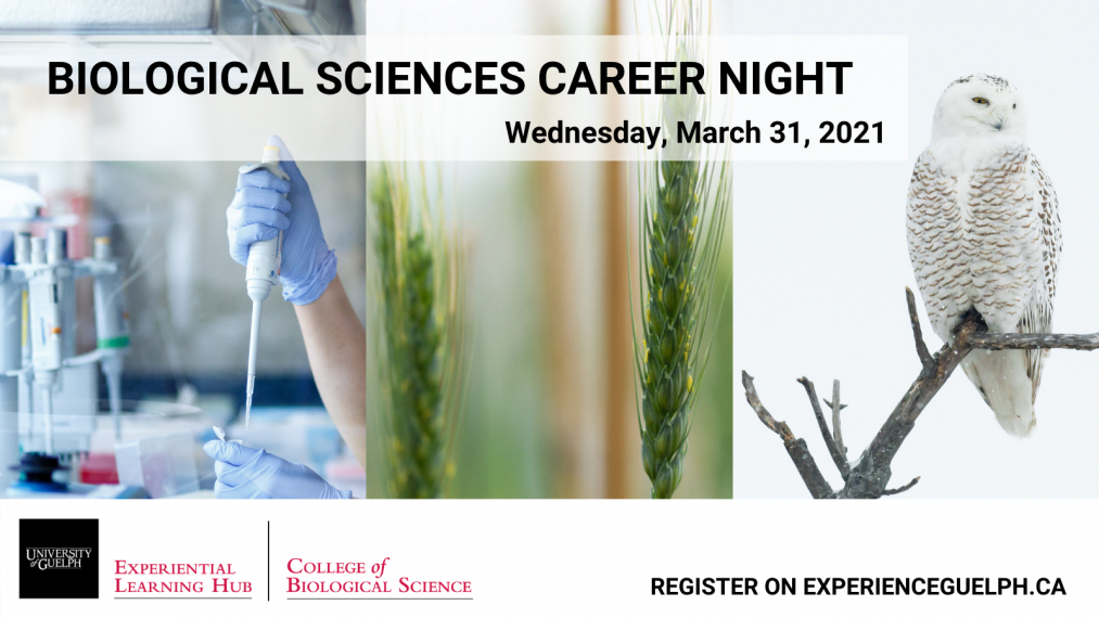 Biological Sciences Career Night Poster