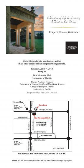 Celebration of Life & Learning Ceremony location and parking map