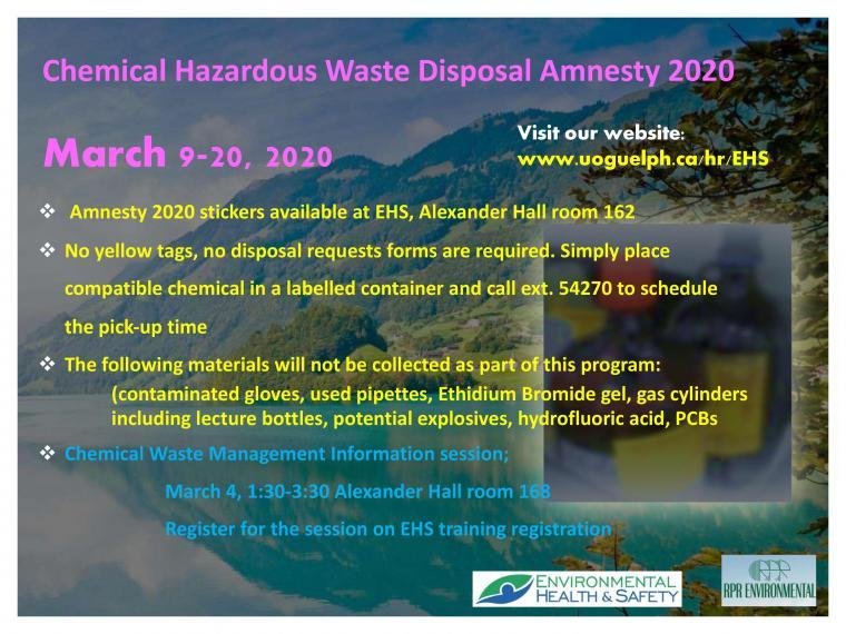 Chemical Waste Amnesty 2020 Poster