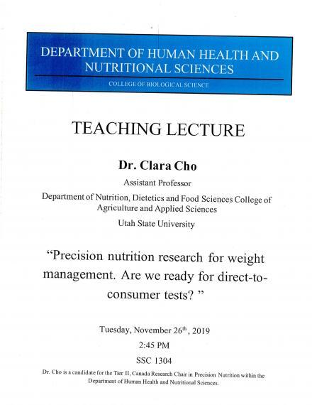 Cho Teaching Lecture Poster