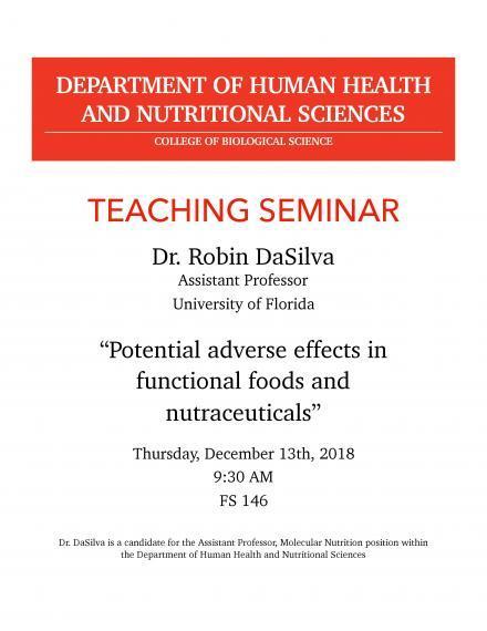 "Poster: ""Teaching Lecture - Dr. Robin Da Silva"""