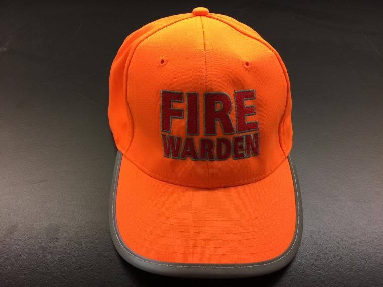 A photograph of a Fire Wardens Cap