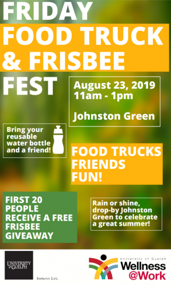 """A poster for """"Friday Food Truck & Frisbee Fest"""""""