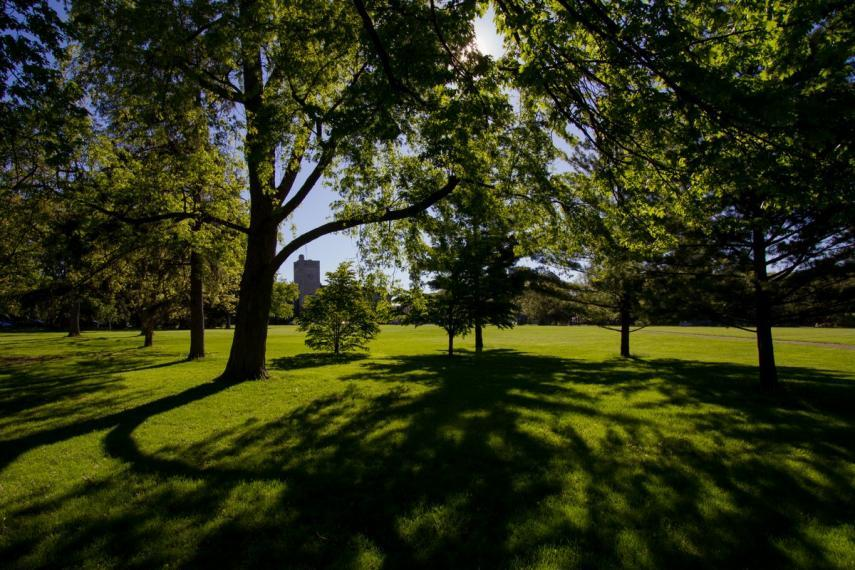 A photograph of Johnston Green at the University of Guelph