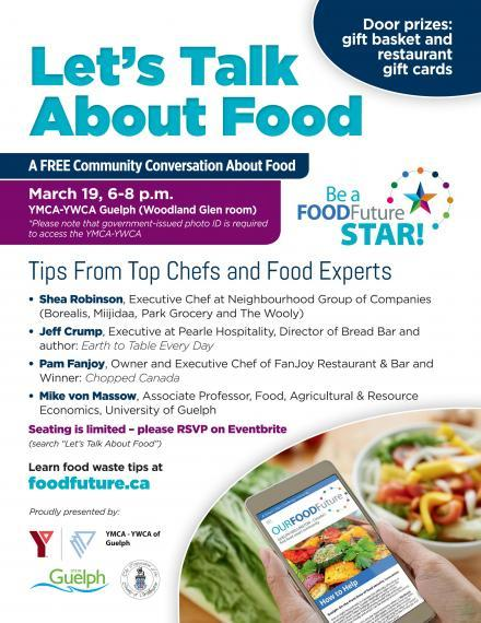 """Poster: """"Let's Talk About Food"""" Event"""