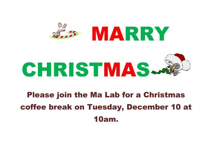 Ma Lab MArry ChristMAs Coffee Break Poster