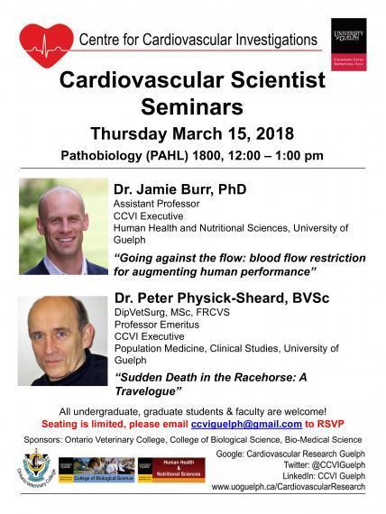 Cardiovascular Scientist Seminars featuring Dr. Jamie Burr & Dr. Peter Physick-Sheard