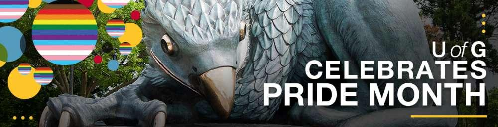 The Pride Month at the University of Guelph Banner