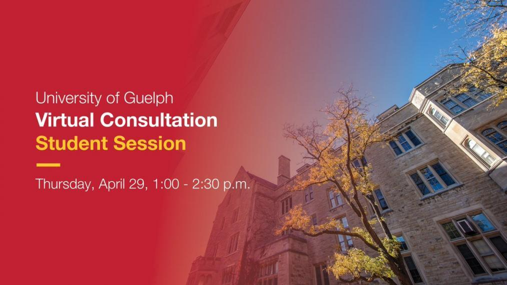 University of Guelph Student Virtual Consultation Poster