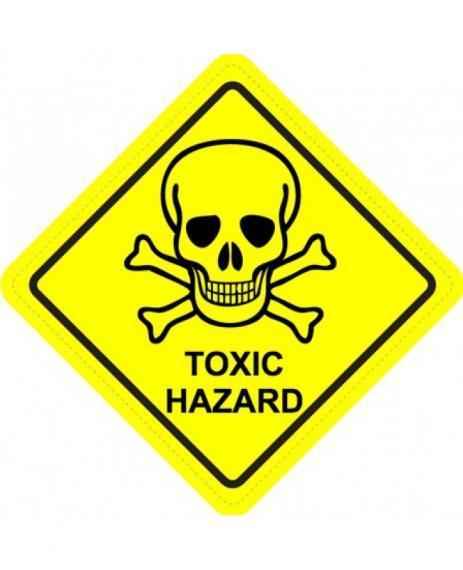 Toxic hazard warning logo
