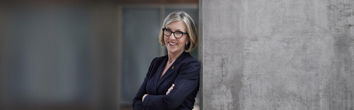 A photograph of President Charlotte Yates