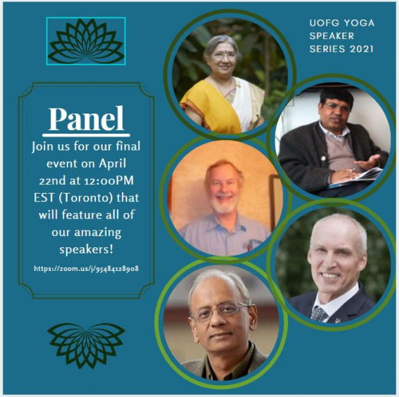 Yoga Speaker Series 2021: Panel Discussion and Q&A Poster
