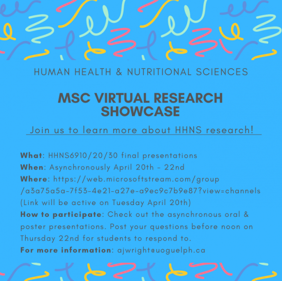 The HHNS Virtual Research Showcase Poster