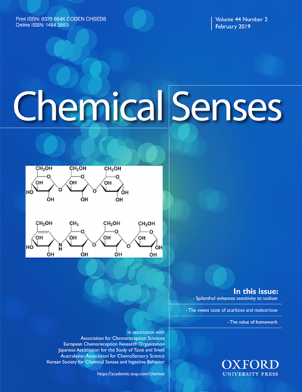 An image of the cover of the journal Chemical Senses