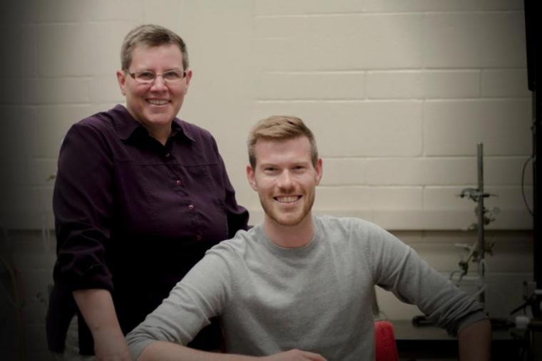 A photograph of researchers Professor Coral Murrant & graduate student Iain Lamb .