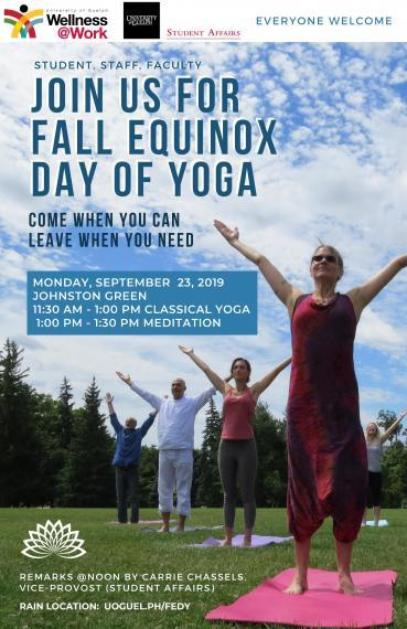 """Poster """"Fall Equinox Day of Yoga"""""""